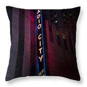 Radio City Throw Pillow