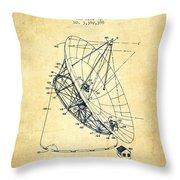 Radio Telescope Patent From 1968 - Vintage Throw Pillow