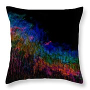 Radio Waves Throw Pillow