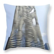 Radisson Blu Facade Vertical Throw Pillow