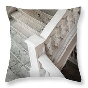 Raffle's Hotel Marble Staircase Throw Pillow