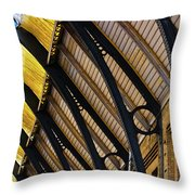 Rafters At London Kings Cross Throw Pillow
