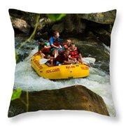 Rafting Bliss Throw Pillow