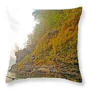 Rafting Near Shore In The Seti River-nepal   Throw Pillow