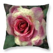 Ragged Satin Rose Throw Pillow