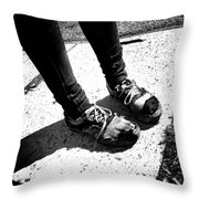 Ragged Shoes Throw Pillow
