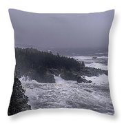 Raging Fury At Quoddy Throw Pillow