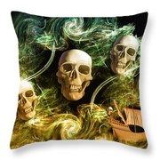 Raging Wars Of Pirates Past Throw Pillow