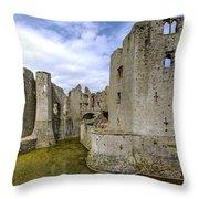 Raglan Castle - 4 Throw Pillow