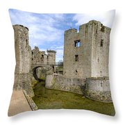 Raglan Castle - 5 Throw Pillow