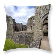 Raglan Castle - 6 Throw Pillow