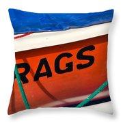 Rags Throw Pillow