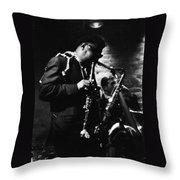 Rahsaan Roland Kirk At Penthouse Seattle 1967 Throw Pillow