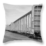 Rail Cars Throw Pillow