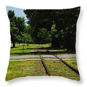Rail Crossing Throw Pillow