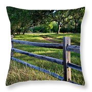 Rail Fence Scenic II Throw Pillow