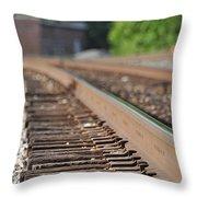 Rail Head - Dalton Georgia Throw Pillow