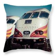 Rail Runner Twins Throw Pillow