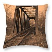 Railbridge Throw Pillow