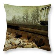 Railroad Bolts Throw Pillow