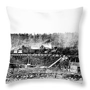 Railroad Bridge, 1858 Throw Pillow