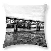 Railroad Bridge Over The Schuylkill River In Norristown Throw Pillow