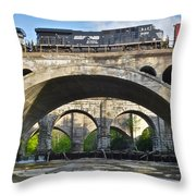 Railroad Bridges Throw Pillow