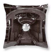 Railroad Car Inverter 1 Sepia Throw Pillow by Roger Snyder