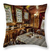 Railroad Dinnertable Throw Pillow