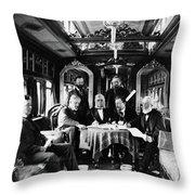 Railroad Directors, C1868 Throw Pillow