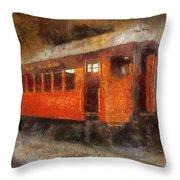 Railroad Gary Flyer Photo Art 02 Throw Pillow