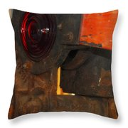 Railroad Gate Signal Throw Pillow