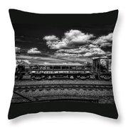 Railroad Gravel Car Throw Pillow