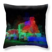 Railroad Led Train Photo Art 01 Throw Pillow