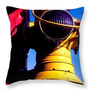 Railroad Oil Lantern Throw Pillow