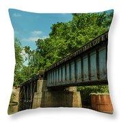 Railroad Over Waccamaw Throw Pillow