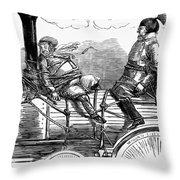 Railroad Safety, 1853 Throw Pillow