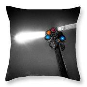 Railroad Signal Throw Pillow