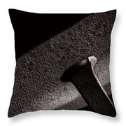 Railroad Spike And Rail Throw Pillow
