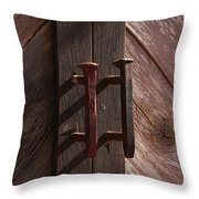 Railroad Spike Handles Throw Pillow