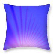 Railroad Sunrise Throw Pillow