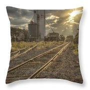Railroad Sunrise Throw Pillow
