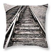 Railroad Switch Throw Pillow