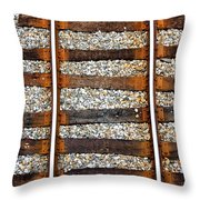 Railroad Track With Gravel 2 Throw Pillow