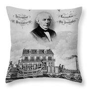 Railroad Train, 1832 Throw Pillow