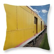 Railroad Train Throw Pillow