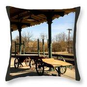 Railroad Wagons Throw Pillow