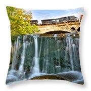 Railroad Waterfall Throw Pillow