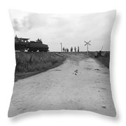 Railroad Workers, C1903 Throw Pillow