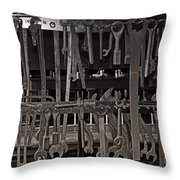 Railroad Wrenches Throw Pillow